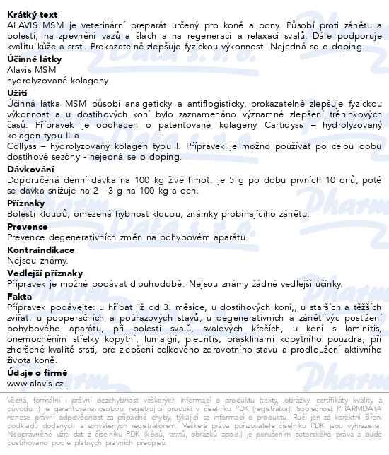 Alavis MSM pro koně 600g - Brněnská lékárna - Váš partner pro zdraví 9fde7366ac