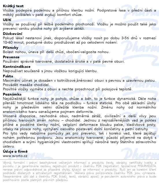 842dcdd257e7 svorto 052 Vložky ortopedické pánské vel.43 - Brněnská lékárna - Váš ...
