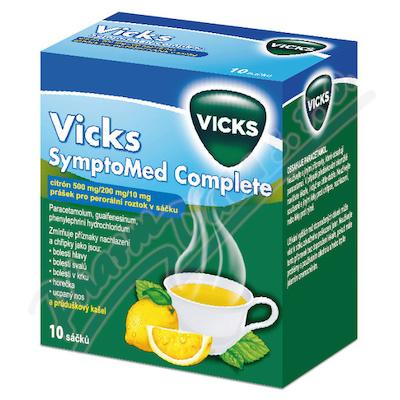 Vicks SymptoMed complete citrón por. plv. sol. 10