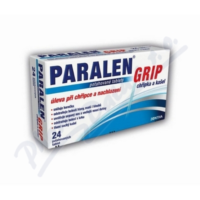 Paralen Grip chřipka a kašel por.tbl.flm.24