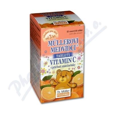 Müllerovi medvídci s vit. C s přích. mandarin. tbl. 45