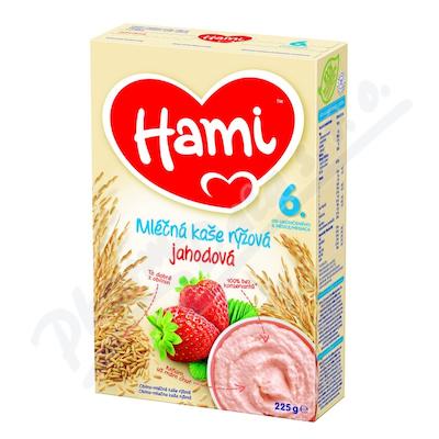 Hami kaše ml.rýžová s jahodami 225g