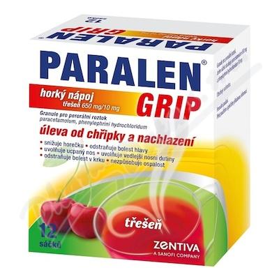 Paralen grip horký nápoj Třešeň por.gra.sol.12