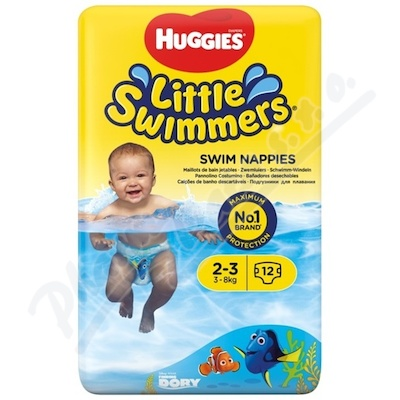 HUGGIES Little Swimmers vel. 2-3 3-8kg 12ks