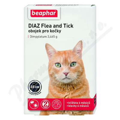 DIAZ Flea and Tick 3. 465g obojek pro kočky 35cm