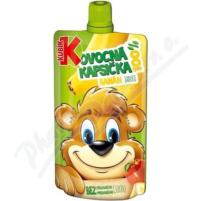 KUBÍK 100% ovoc.kapsička banán-mrk-jab 100g