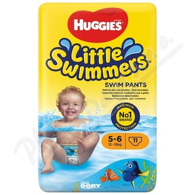 HUGGIES Little Swimmers vel. 5-6 12-18kg 11ks