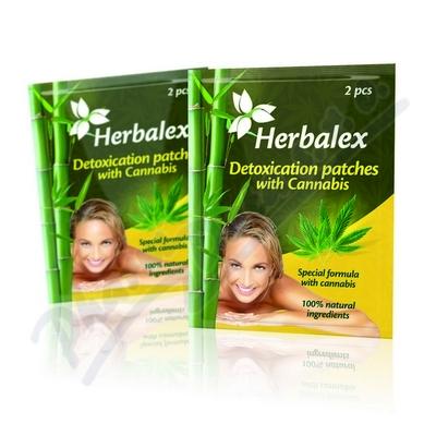 Herbalex detoxik. náplast s konopím 2ks