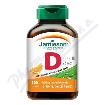 JAMIESON Vitamín D3 1000 IU pomer. cucací tbl. 10