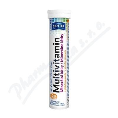 Biotter Multivitamín minerální látky 20ks šum.tbl.