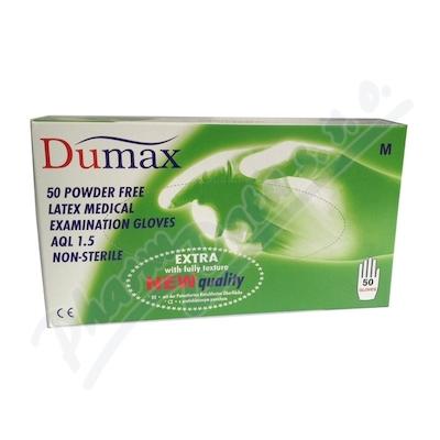 DUMAX vyšetř. latex. nest. nepudr. rukavice M-50ks