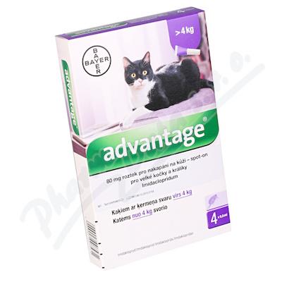 Advantage 80mg pro v. kočky+králíky spot-on 4x0. 8ml