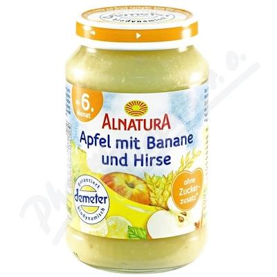 Alnatura BIO Jablko a banán a jáhly 190g 6M