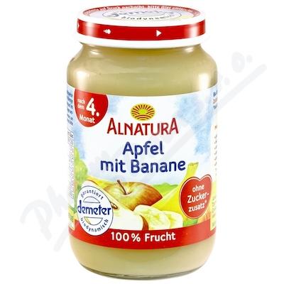 Alnatura BIO Jablko s banánem 100% ovoce 190g 4M
