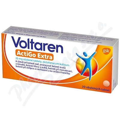 Voltaren Actigo Extra 25 mg tbl.obd. 20 CZ