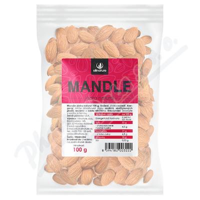 Allnature Mandle jádra natural 100 g