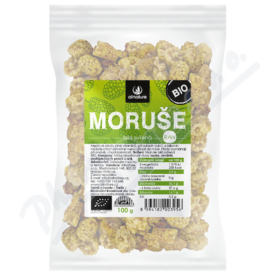 Allnature Moruše bílá sušená BIO 100 g