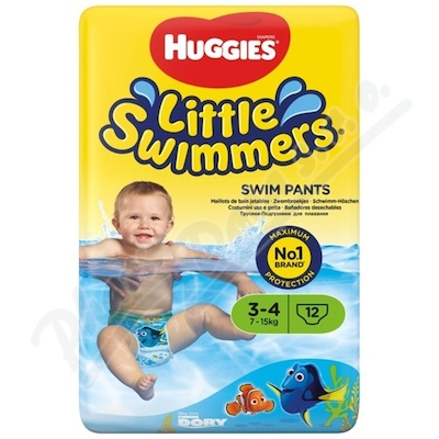 HUGGIES Little Swimmers vel. 3-4 7-15kg 12ks
