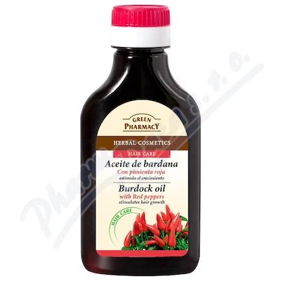 Lopuchový olej s chilli papr. ro růst vlasů 100ml