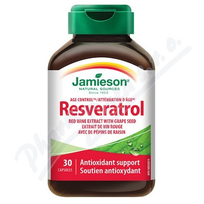 JAMIESON Resveratrol 50mg extr. z červ. vína cps. 30