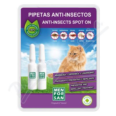 Menforsan Antiparazitní pipety pro kočky 2x1. 5ml