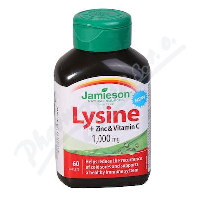 JAMIESON Lysin 1000mg se zinkem a vit. C tbl. 60