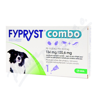 FYPRYST combo 1x1. 34ml spot-on pro psy 10-20kg