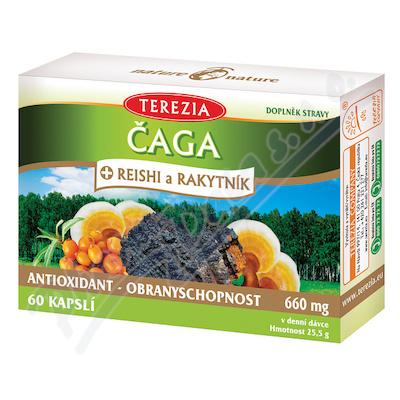 TEREZIA Čaga+Reishi a Rakytník cps. 60