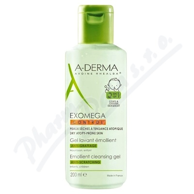 A-DERMA Exomega CONTROL Zvláč. mycí gel 2v1 200ml