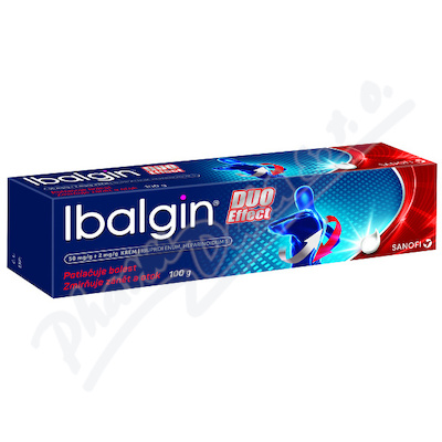 Ibalgin Duo Effect 50mg-g+2mg-g crm. 100g