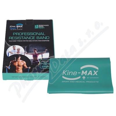 KineMAX Resistance band Posilovací guma zelená 2m
