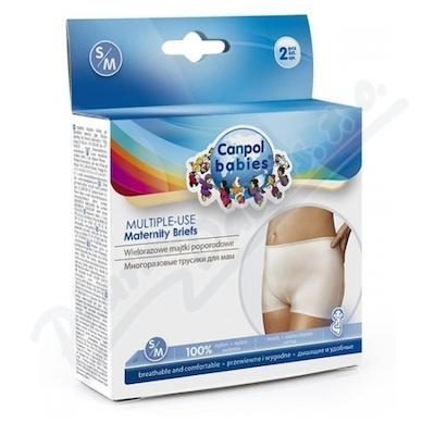 CANPOL BABIES Multifunkční kalhotky po por. 2ks S-M