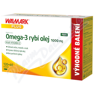 Walmark Omega-3 rybí olej 1000mg tob. 120+60