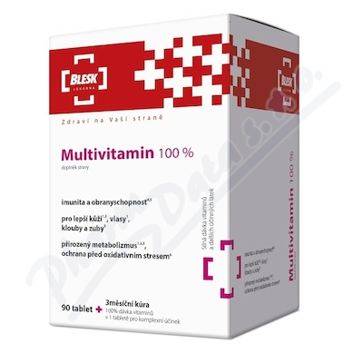 BLESK Multivitamin 100 % tbl. 90