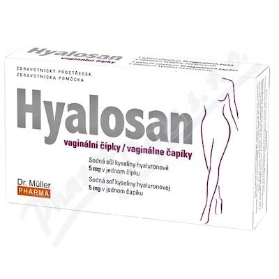 Hyalosan vaginální čípky 10ks Dr. Müller