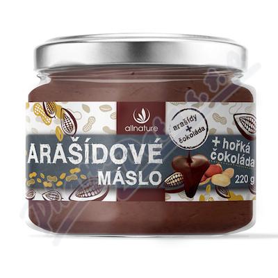 Allnature Arašídové máslo s hořkou čokoládou 220 g