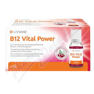 LIVSANE Vitaminy ampule B12 Životní síla 10ml 10ks