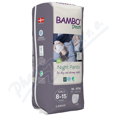 Bambo Dreamy Night Pants 8-15let Girl 35-50kg 10ks