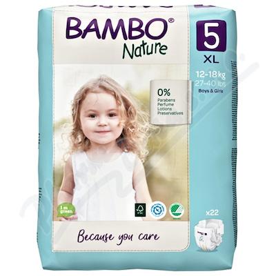 Bambo Nature 5 dětské plenk.  kalhotky 12-18kg 22ks