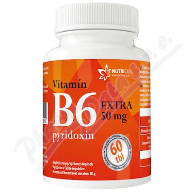 Vitamín B6 EXTRA - pyridoxin 50mg tbl. 60
