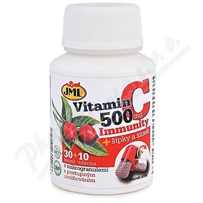 JML Vitamin C 500mg + šípky a zinek cps. 30+10