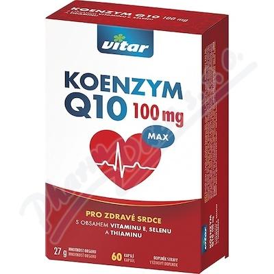 Vitar Koenzym Q10 100mg+Se+vit. E+thiamin cps. 60
