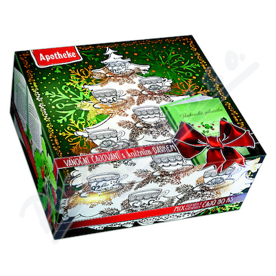 Apotheke kolekce prémiov. čajů vánoční+herbář 90x2g