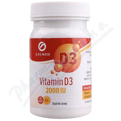 Vitamín D3 2000 IU cps. 90 Galmed