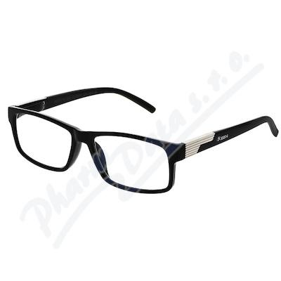 Brýle čtecí +1. 00 černé s kovovým doplňkem FLEX