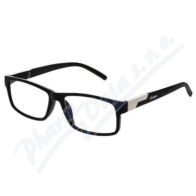 Brýle čtecí +2. 00 černé s kovovým doplňkem FLEX