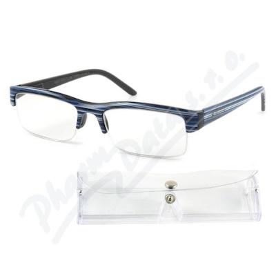 Brýle čtecí +1. 50 modro-černé s pouzdrem FLEX