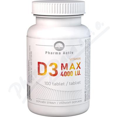 Vitamin D3 MAX 4000 I. U.  tbl. 100
