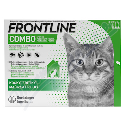 Frontline Combo Spot-on cat a. u. v. sol. 3x0. 5ml