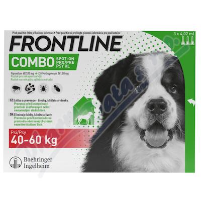 Frontline Combo Spot on Dog 40-60kg pipet. 3x4. 02ml